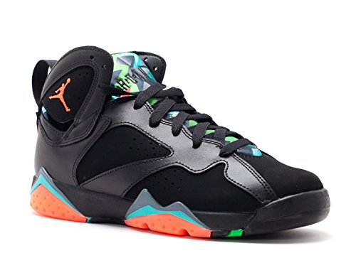Jordan Air 7 Retro 30TH Anniversary BG Big Kids Shoes Black/Infrared-Blue Graphite 705412-007 (7 M US)