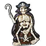 "34"" Lighted Animated Skeleton Pirate Yard Prop"