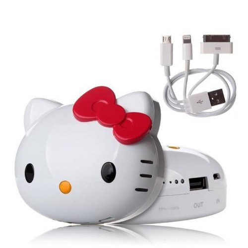 8000mAh/12000mAh 3D Hello Kitty Mobile External Power Bank Battery USB Charger For iPhone 4 4S 5 5S 5C,Ipod & Ipad,Samsung Galaxy S3 S4 Note 2 Note3,HTC One Phone (Red 8000mAh)