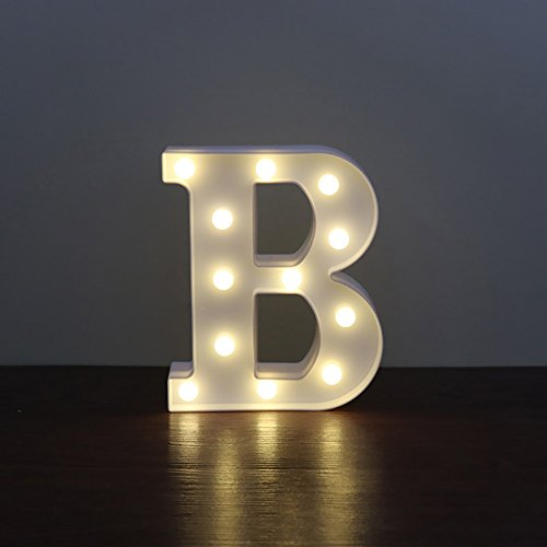 CSKB LED Marquee Letter Lights 26 Alphabet Light Up Marquee Letters Sign for Wedding Birthday Party Battery Powered Christmas Night Light Lamp Home Bar Decoration B ()