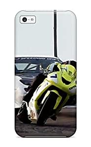 GpAWAKc7307MDvrr Bike Vs Car Drifting Ride Vehicles Drift Race Cars Other Fashion Tpu 5c Case Cover For Iphone