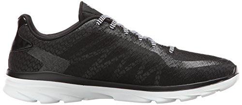 Skechers del zapato Go 3 Ruta Fit Rendimiento Black White TwYqrxXT