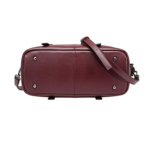 Femme Casual Main Mode Red couleur 14 Sac 33 Grande 23cm Pour Brown Bandoulière Polyvalent Simple Bagbagjj À Et Capacité Taille 0vxwqwER