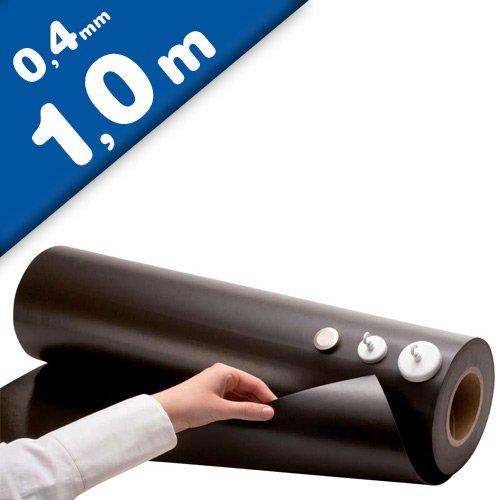 Eisenfolie Ferrofolie selbstklebend weiß matt 0,6mm x 31cm x 100cm
