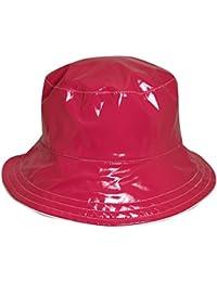 Dorfman Pacific Women's Reversible Solid/Polka Dot Bucket Rain Hat, Pink