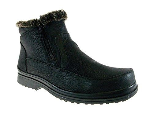 Brixton Mens Rusi 02 Fur Lined Winter Snow Boots Black