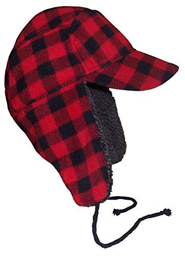 f80ca409 N'Ice Caps Big Boys And Teens Buffalo Plaid Elmer Fudd Hat (Big Boys XL  (23