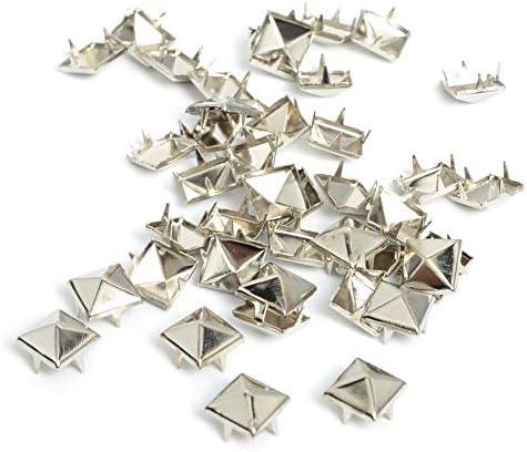 BJXD 100pcs 8ミリメートルアパレル縫製ピラミッドスタッズNailheadsリベットスパイクパンクレザークラフトブレス