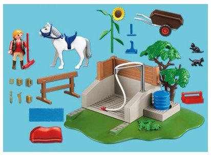 playmobil centre questre 4193 box de lavage pour chevaux ebay. Black Bedroom Furniture Sets. Home Design Ideas