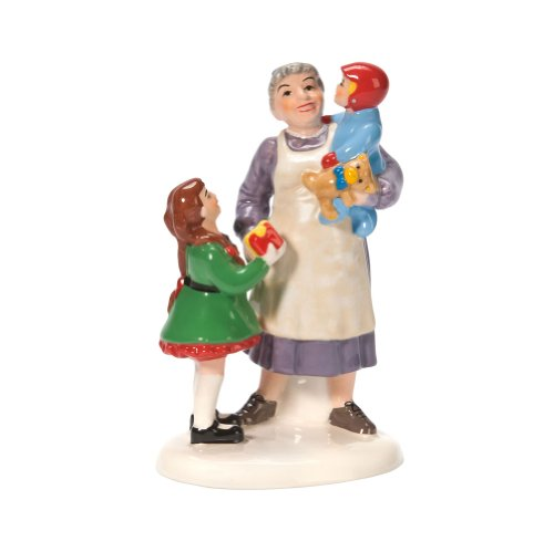 Department 56 Snow Village Grandma's Favorite Present Accessory Figurine (Village Villages Snow 56 Accessories)