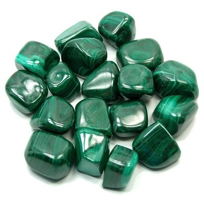 "Tumbled Malachite(1"" - 1-1/2"") - 1pc."