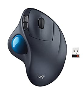 Logitech M570 Wireless Trackball Mouse - Ergonomic Design with Sculpted Right-hand Shape, Compatible with Apple Mac and Microsoft Windows Computers, USB Unifying Receiver, Dark Gray (B0043T7FXE) | Amazon Products