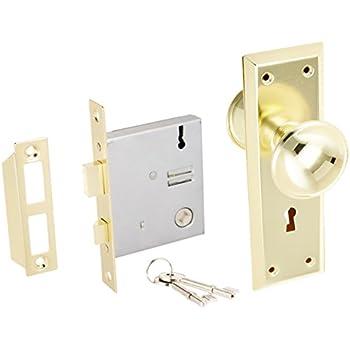 Ultra Hardware 44609 2-1/4  Brass Old Time Mortise Interior Door Lock  sc 1 st  Amazon.com & Ultra Hardware 44609 2-1/4