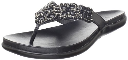 Kenneth Cole Slip Sandals - Kenneth Cole REACTION Women's Glam-athon Flat Sandal, Black, 8 M US