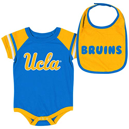 Colosseum NCAA Baby Short Sleeve Bodysuit and Bib 2-Pack-Newborn for sale  Delivered anywhere in USA