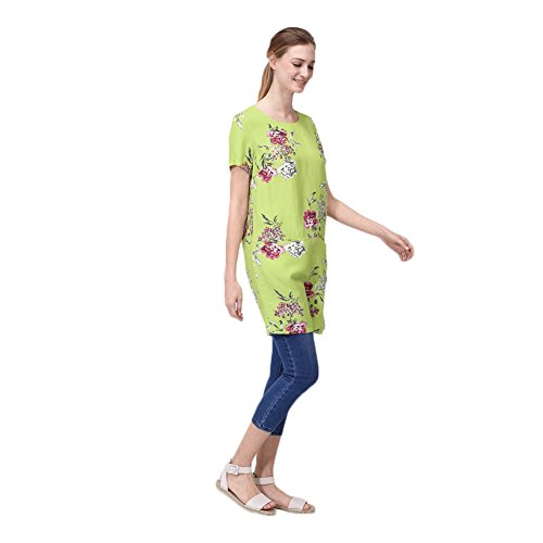 Joules Ianthe Woven Tunic Dress (U) 8 Lime Floral