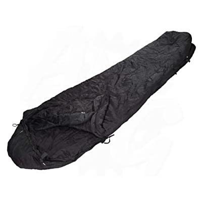Military Outdoor Clothing Previously Issued U.S. G.I. Black Nylon Modular Intermediate Cold Sleeping Bag