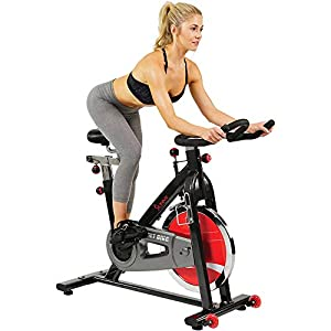 Sunny Health & Fitness Indoor Cycling Exercise Bike with Heavy 49 LB Chrome Flywheel – SF-B1002/C
