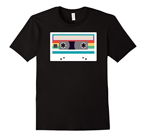90s Party Costume Ideas Male (Mens Cassette Tape Costume Shirt 80s 90s Party Outfit T-Shirt 3XL Black)