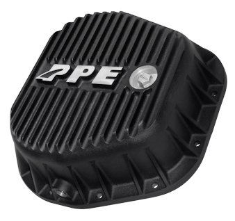 PPE HEAVY DUTY REAR ALUMINUM DIFFERENTIAL COVER BLACK FORD F250/F350 10.25 & 10.50 INCH - (Stainless Rear Differential Cover)