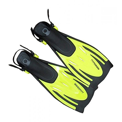 (Typhoon Kids junior T-Jet Fins in YELLOW Sizes-- - Large/Extra Large)