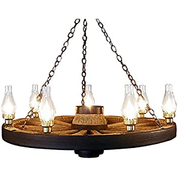 High Quality Large Wagon Wheel Chandelier Chimney Lights