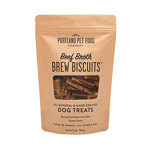 Portland Pet Food Company Beef Broth Brew Dog Treats, All Natural, Human-Grade, USA Sourced and Made, 1 Pack (5oz)