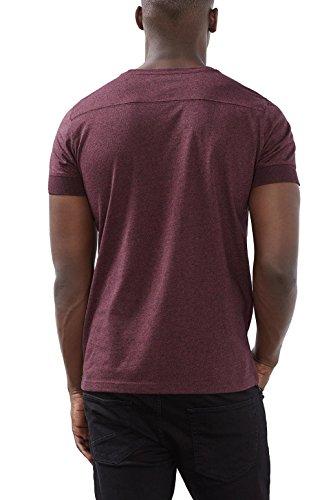 ESPRIT 116ee2k018-Basic, Camiseta para Hombre Rojo (bordeaux Red 600)