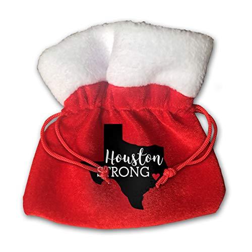 CYINO Personalized Santa Sack,Houston Strong Come Portable Christmas Drawstring Gift Bag (Red)