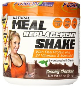 Fusion Diet Systems Pea Protein Natural Meal Replacement Shake, Chocolate, 12 OZ by Fusion Diet Systems