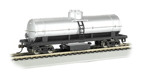 Bachmann Trains Track Cleaning Tank Car-Unlettered-Silver-Ho Scale ()