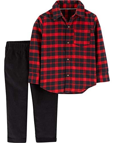 (Carter's 2 Piece Shirt and Pants Set, Plaid/Corduroy, 12 Months)