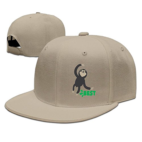 Bhfadso Best Friends Sloth Adjustable Hat Flat Along Baseball Flat Cap Black for Unisex