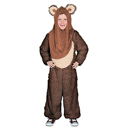 Ewok Wicket Costume (Star Wars Premium Wicket Jumpsuit Child Costume - X-Large)