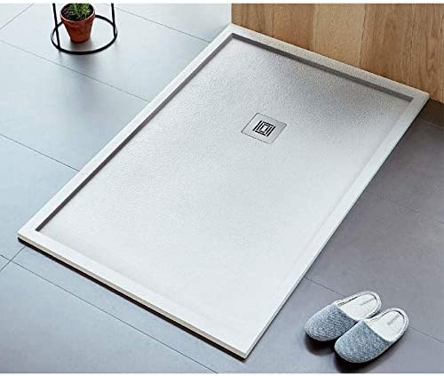 Plato de ducha extra plano LOGIC encuadre superficie pizarra rectangular blanco: Amazon.es: Bricolaje y herramientas