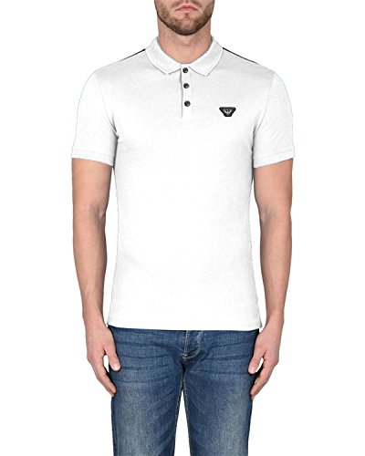 Armani Cotton Jeans - Emporio Armani Armani Jeans - Men's Cotton Polo - White, L