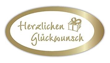 Geschenk Etiketten Mit Goldprägung Herzlichen Glückwunsch