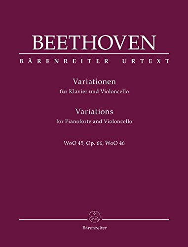 Beethoven: Variations for Cello and Piano
