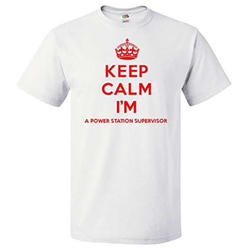 ShirtScope Keep Calm I'm A Power Station Supervisor T shirt Funny Tee