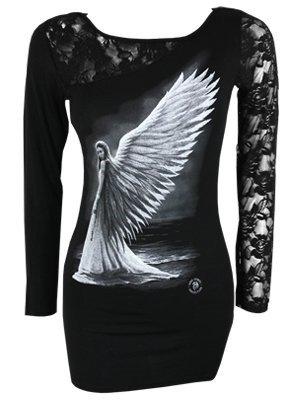Spiral Spirit Guide Langarm Shirt, schwarz