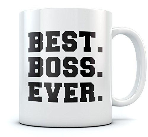 Best Boss Ever Coffee Mug Gift for Boss Manager Coworker Mug 11 Oz. White