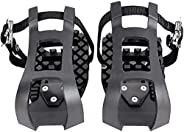 Bike Pedals with Toe Clip and Straps Compatible for Peloton Bike Bike Pedal Adapters Indoor Outdoor Exercise T