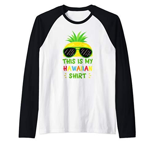 This Is My Hawaiian Shirt Aloha Hawaii Summer Pineapple Raglan Baseball - Shirt Aloha Chocolate Hawaiian