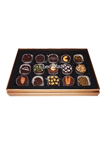 Hand-Crafted Gourmet Chocolate Truffles, Artisan Made To Order, Dark Chocolate, Vegan, Kosher Parve, Includes Gift Box Miami Beach Chocolates 15 Pieces