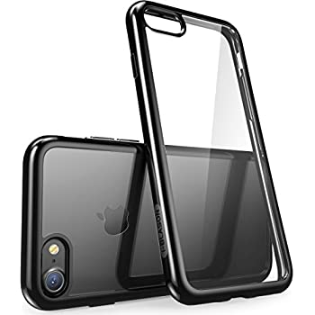 iPhone 7 Case, iPhone 8 Case [Scratch Resistant] i-Blason Clear [Halo Series] for Apple iPhone 7 Cover/Apple iPhone 8 Cover(Clear/Black)