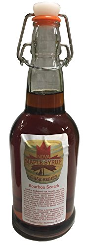 Bourbon Barrel Aged Nova Maple Syrup - Pint (16 Fl Oz) (Scotch Bourbon)