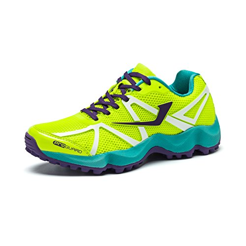 Jazba Women Rattler Hockey Shoes -Lime Violet EURO 40 by Jazba