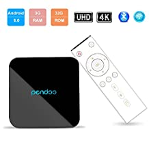 Android TV Box,Pendoo X10 Pro Android 6.0 3GB 32GB Amlogic S912 Octa-Core 64Bits 4K HD Bluetooth 4.1 2.4GHz/5.8GHz Dual-Band WIFI TV Box
