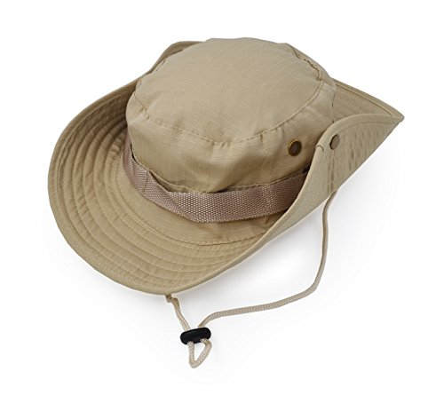 Outdoor Wide Brim Sun Protect Hat, Classic US Combat Army Style Bush Jungle Sun Cap for Fishing Hunting Camping 6