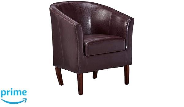 Admirable Amazon Com Benjara Bm16692 Wooden Club Chair With Faux Beatyapartments Chair Design Images Beatyapartmentscom